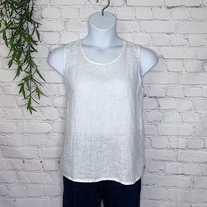 Flax linen white tank size medium
